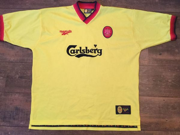 1997 1999 Liverpool Away Football Shirt Adults XL